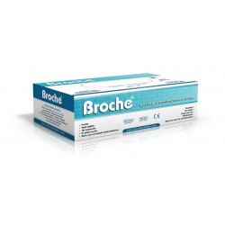 100 бр. Латексови ръкавици с талк - M - Broche