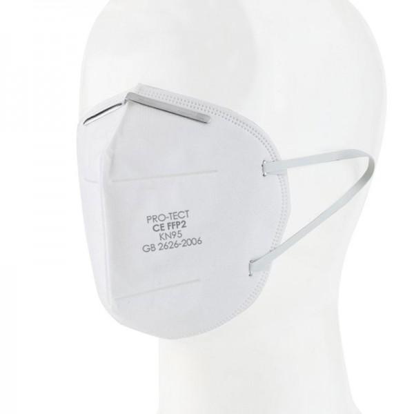 ПРЕДПАЗНА МАСКА ЗА ЛИЦЕ FFP2 KN95 (5 пластова) - против мръсен въздух, прах, химикали, частици и др.