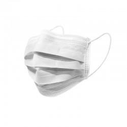 Хирургически трислойни маски с ластик бели - 50 бр. в кутия