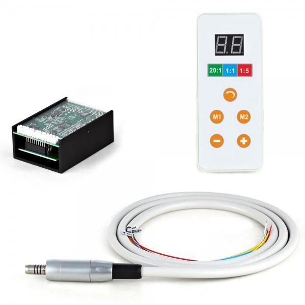 Електрически безчетков микромотор със светлина за вграждане